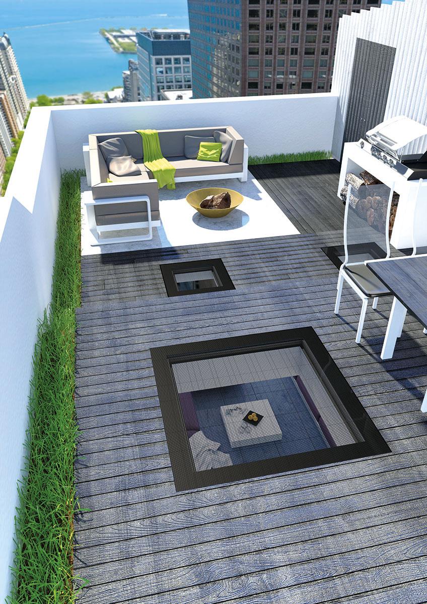 Finestre per tetti piatti dxw progettate per camminare for Finestre fakro