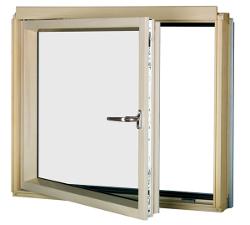 Finestra ad angolo realizzata per il montaggio nella - Finestra scorrevole verticale ...