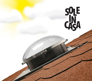 Lucernari tubolari luce solare naturale fakro for Lucernari da tetto