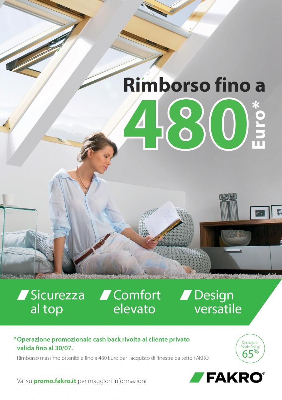 Fakro unisce comfort ed efficienza nella tenda parasole for Finestre tetto fakro